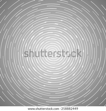 Abstract spiral design pattern. Circular, rotating background  - stock vector