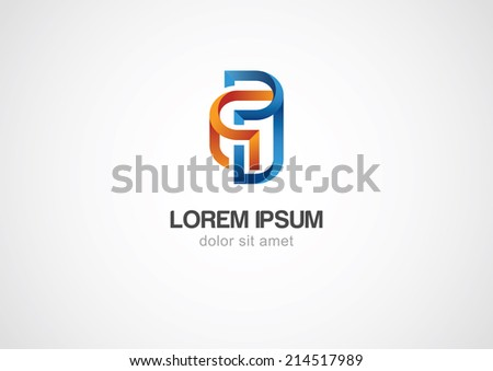Abstract spiral element, corporate icon. Vector logo template.   - stock vector