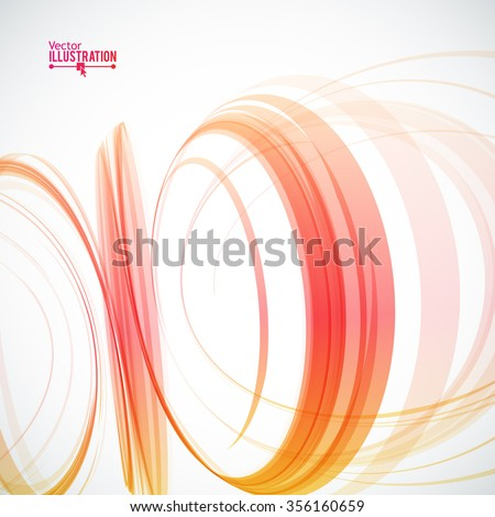 Abstract Spiral on White Background. Design Element for Graphic Design / Party Flyers / Business Presentation / Posters. Vector Illustration.  - stock vector