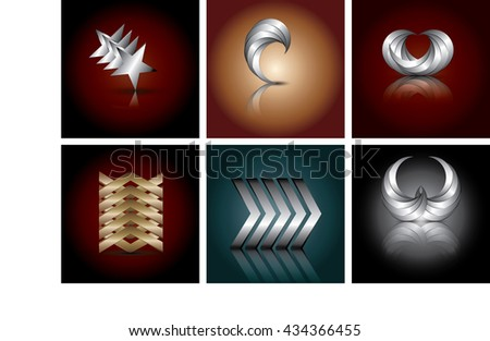 Abstract Spiral star and circular  business logo template Modern technology communication science concept icon corporate identity element Vector graphics idea Editable - stock vector