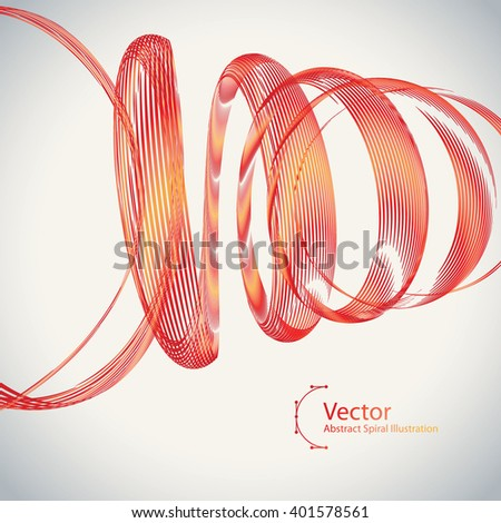 Abstract Spiral vector colorful Illustration. Background design template is well done for Graphic Design,  Party Flyers, Business Presentation, Posters.  - stock vector