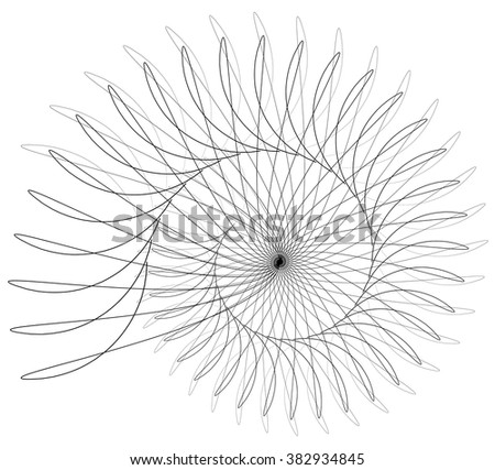 Abstract spirally element isolated on white.