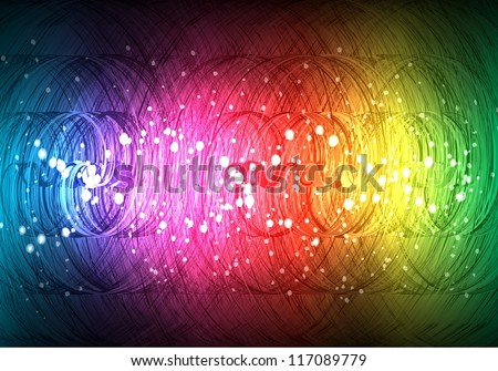 abstract spirals background - stock vector