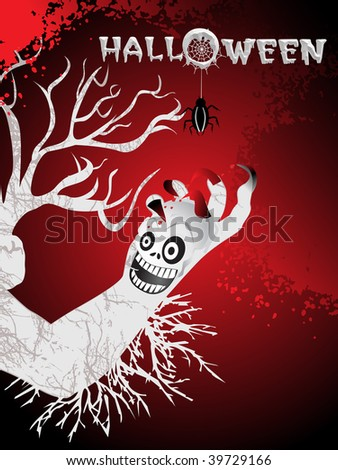 abstract spooky pattern background, vector wallpaper
