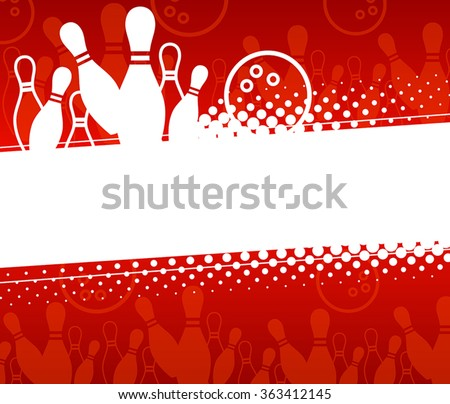 Abstract sports background with elements of the game of bowling - stock vector
