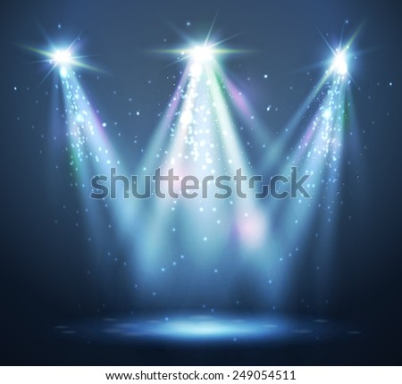 Abstract  spotlight background. - stock vector