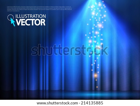 Abstract spotlight background. Vector illustration  - stock vector