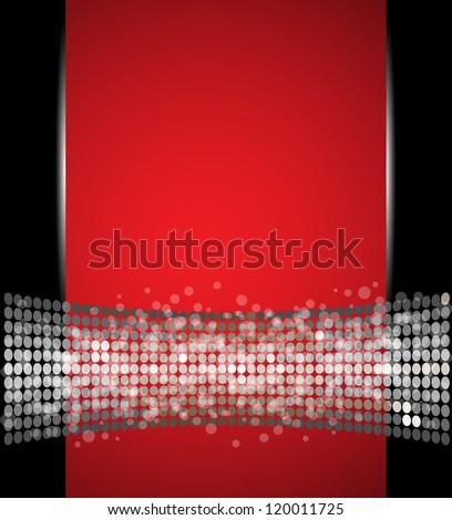 abstract spotlight disco light stars vector background - stock vector