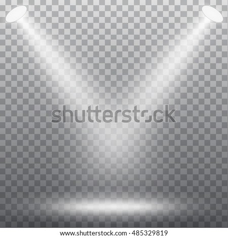 Abstract spotlight effect on dark background. Vector eps10 illustration