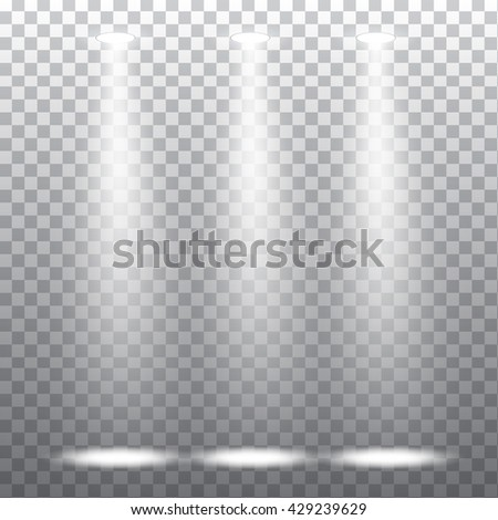 Abstract spotlight effect on light grey background. Vector eps10 illustration - stock vector