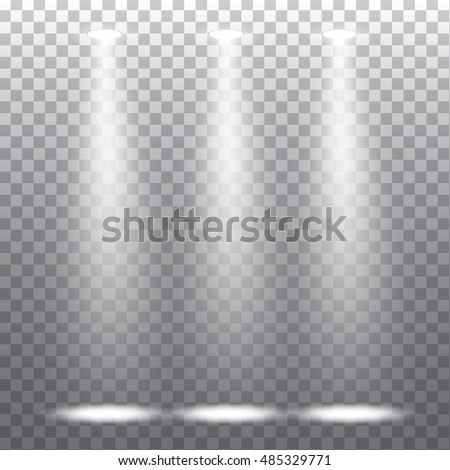 Abstract spotlight effect on light grey background. Vector eps10 illustration