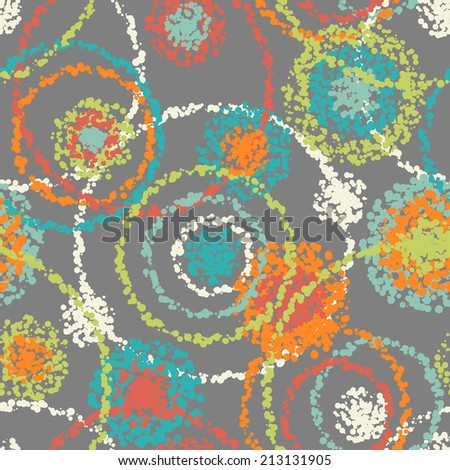 abstract spotty seamless pattern - stock vector