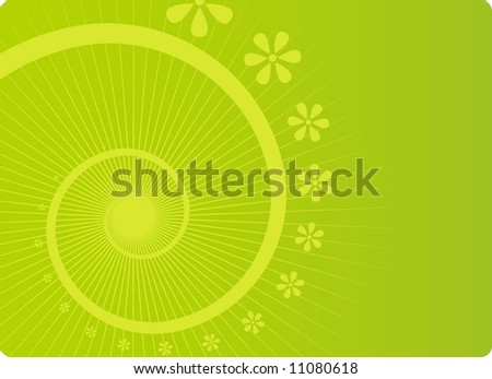 Abstract spring flower background - stock vector