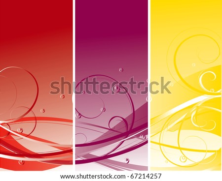 abstract spring flower vector illustration - stock vector