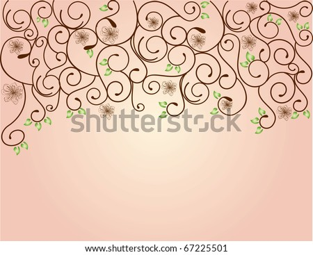 abstract spring flower vector illustration pink rose, rosa - stock vector