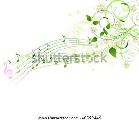 Abstract spring song background - stock vector