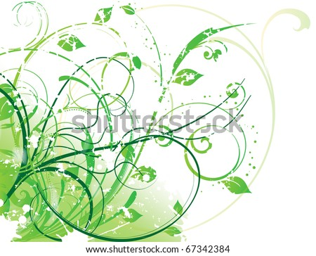 abstract spring vector illustration - stock vector
