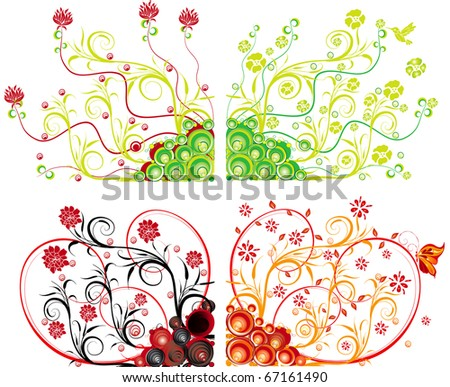 abstract spring vector illustration different colors - stock vector