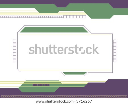 Abstract Square Background - stock vector