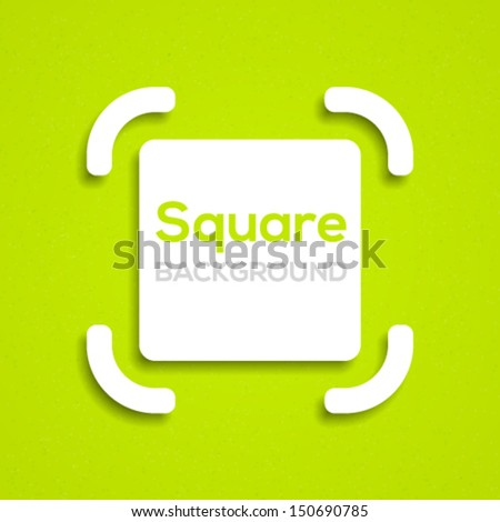 Abstract square background. Vector illustration. - stock vector