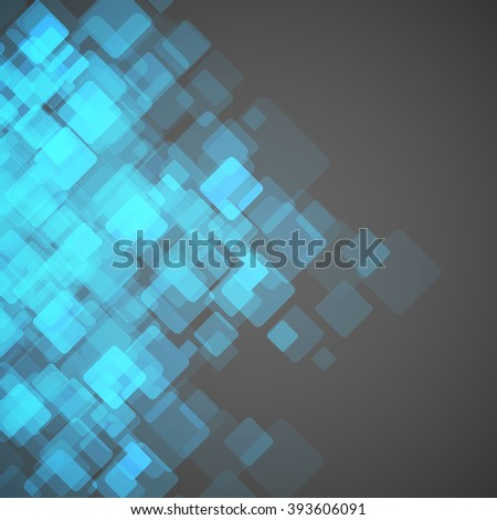 Abstract square background. Vector Illustration. Clip-art - stock vector