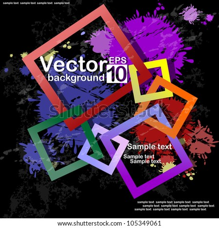 Abstract Square Background. Vector illustration. Eps 10. - stock vector