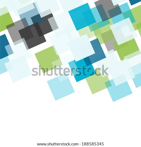 Abstract square colorful mosaic background - stock vector