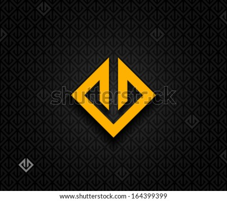 Abstract square element - stock vector