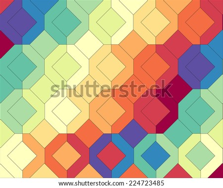 abstract square pattern  - stock vector
