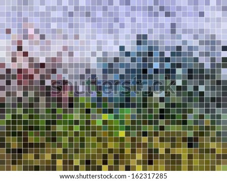 abstract square pixel mosaic background