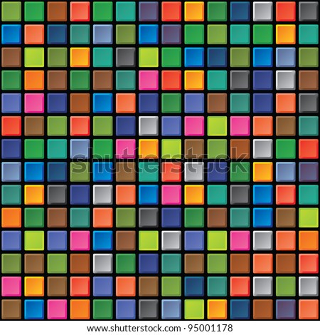 Abstract square seamless texture - iridescent tiles - stock vector