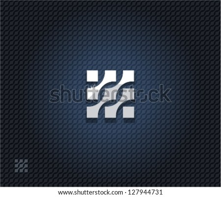 Abstract square symbol - stock vector