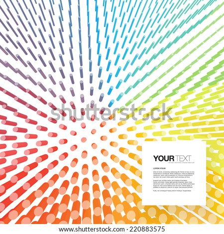 Abstract square text box design with colorful background  Eps 10 stock vector illustration  - stock vector
