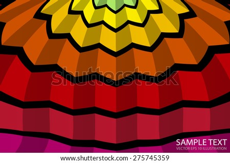 Abstract squared shape background vector illustration  - Vector colorful striped abstract background template illustration - stock vector