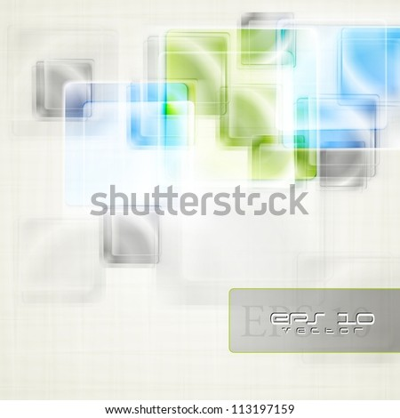 Abstract squares on the light background. Vector illustration eps 10 - stock vector