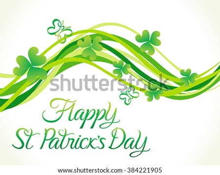 abstract st patrick day wave vector illustration - stock vector