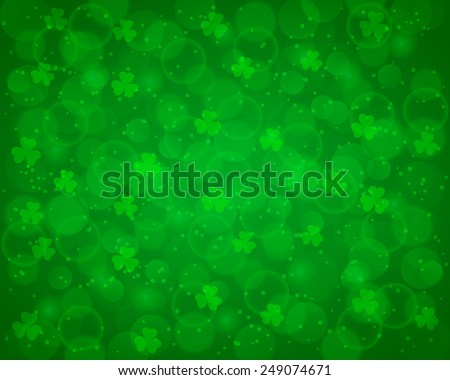Abstract St Patrick's day background decorated with shamrocks - stock vector