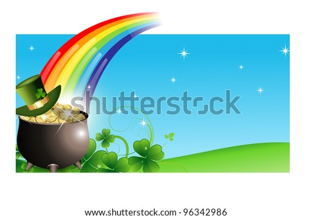 Abstract St. Patrick's Day Banner - stock vector