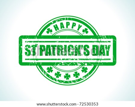 abstract st patrick stamp vector illustration - stock vector