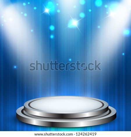 Abstract stage with spotlight. EPS 10. - stock vector