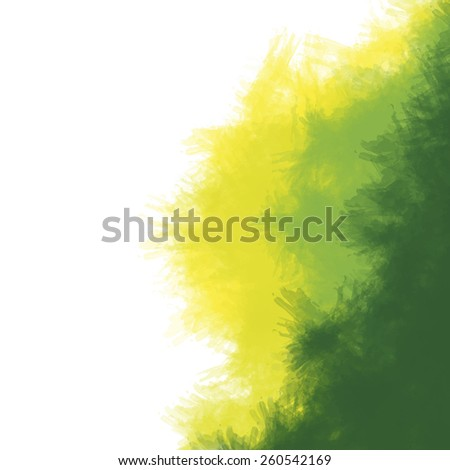 Abstract stain watercolors colors wet on dry paper : vector eps.10 - stock vector