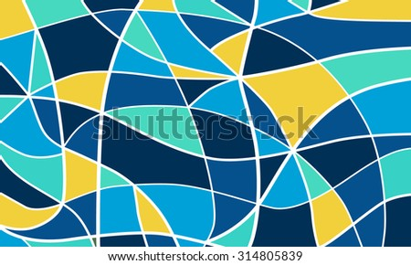 Abstract stained glass background.Vector - stock vector