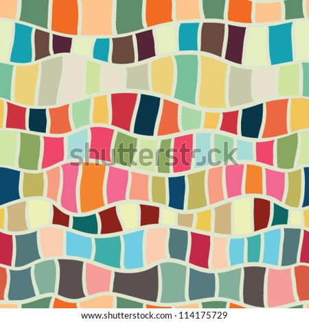 abstract stained glass seamless pattern - stock vector