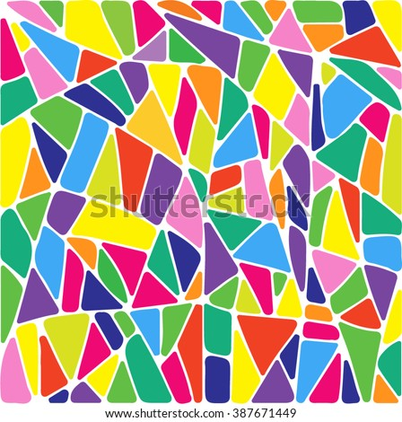 abstract stained glass window patches background. colorful vector illustration
