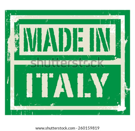 Abstract stamp or label with text Made in Italy, vector illustration - stock vector