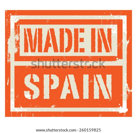 Abstract stamp or label with text Made in Spain, vector illustration - stock vector