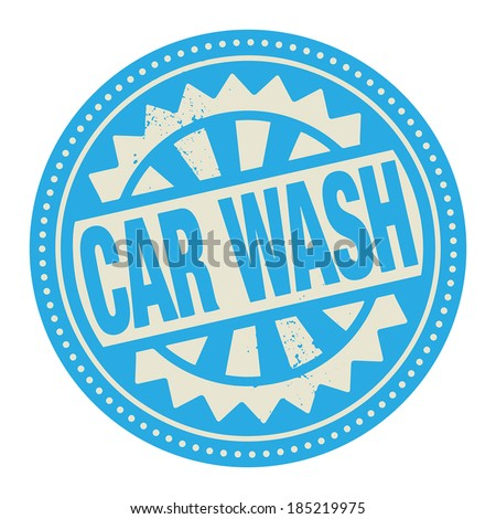 Abstract stamp or label with the text Car Wash written inside, vector illustration - stock vector