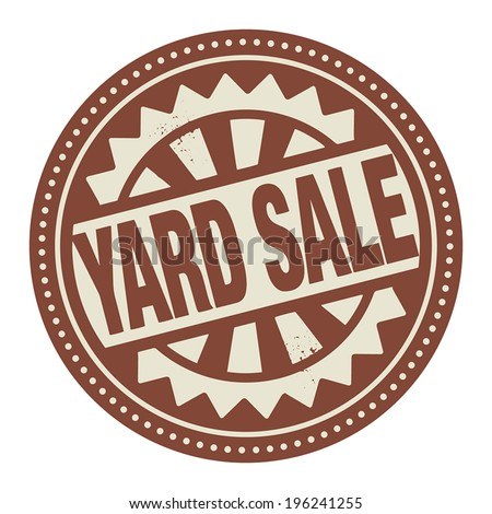 Abstract stamp or label with the text Yard Sale written inside, vector illustration - stock vector