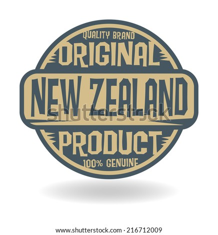 Abstract stamp with text Original Product of New Zealand, vector illustration