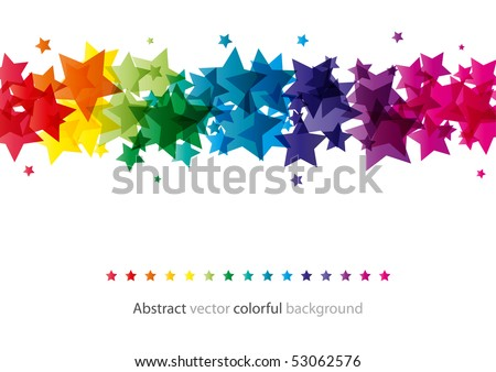 Abstract star colorful background